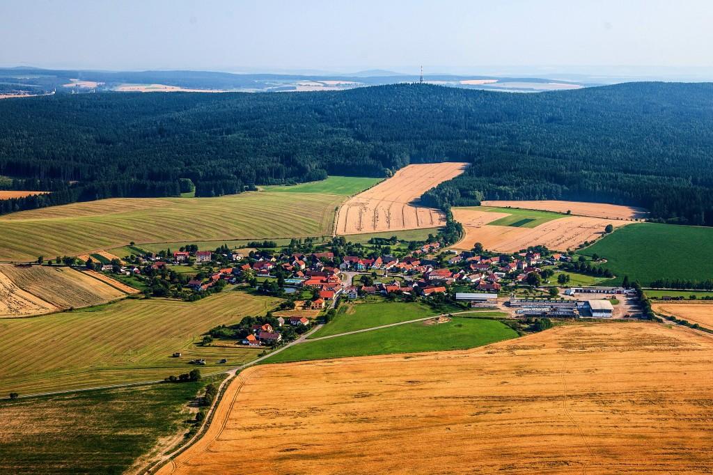 Letecké foto obce